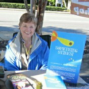 Gail Hedrick, Author of Something Stinks, at a Book Signing