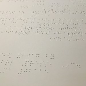 Braille Edition, Painting In the Dark