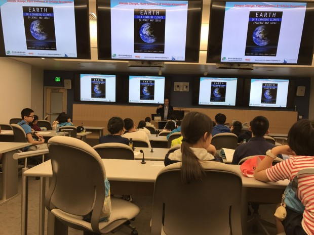 THL's Barnas Monteith, lecturing at Harvard Medical School, using lessons from the book including Dan Damelin's free climate visualization tools available via the Concord Consortium website
